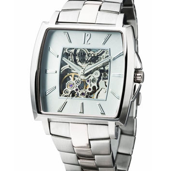 Kenneth Cole KC3770 Men's New York Silver Skeleton Dial Stainless Steel Automatic Watch