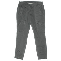 Pure DKNY Womens Solid Flat Front Cargo Pants
