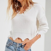 UO Deconstructed V-Neck Sweater | Urban Outfitters