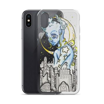 Blue Alien phone case for iPhone