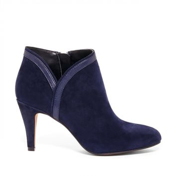 Sole Society Roxine Almond Toe Suede Bootie