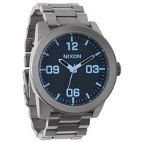 Nixon Blues Collection The Corporal Ss Watch Gunmetal/Blue Crystal One Size For Men 22193811201