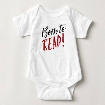 Red and Black Born to Read Tees