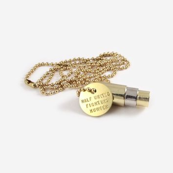Fighting Hunger Bullet Necklace - Gold, Silver, Gold