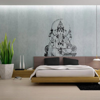 Ganesh Ganesha Elephant Lord of Success Hindu Hand God Buddha India Housewares Wall Vinyl Decal Design Interior Bedroom Decor Sticker SV4147