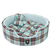 Classic Preppy Dog Bed Blue | Cute Beds for Small Dogs at Glamourmutt.com