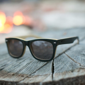 Woodies x KCCO Limited Edition Black Bamboo Sunglasses