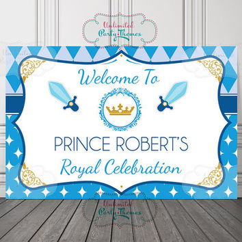 Royal Prince Vinyl Banner / Prince Backdrop / Prince Vinyl Backdrop / Little Prince Banner