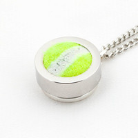 Tennis Ball Pendant and Necklace - Made from a Real Tennis Ball