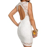 Destinee- White Short Homecoming Dress