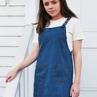 Hailey Denim Overall Dress
