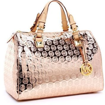 Michael Michael Kors Grayson Large Jet Set Satchel, Rose Gold
