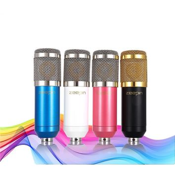 Sound Recording Microphone with Shock Mount