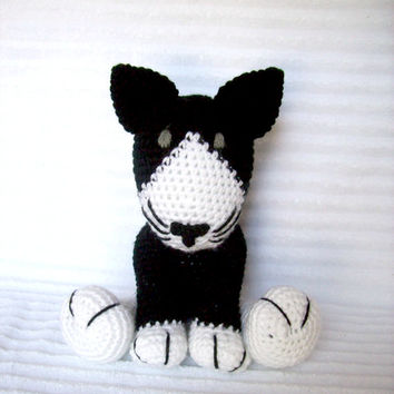 Crochet Animal, Crochet Cat Stuffed Animal, Plush Cat, Crochet Kitty, Stuffed Cat, Kitten Plush, Cat Plush, Stuffed Puppy, Toy Cat