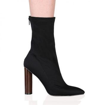 Kori Ankle Boots in Black Lycra