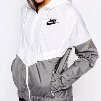 PEAPUF3 Fashion Online Nike Fashion Hooded Windbreaker Jacket G