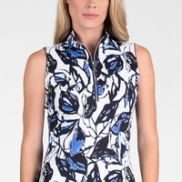 Tail Ladies & Plus Size MODERN OASIS Fannie Sleeveless Golf Tops - Vibrant Blooms