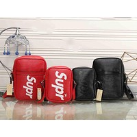 LV x Supreme Fashion Leather Daypack Travel Bag I - MYJSY-BB