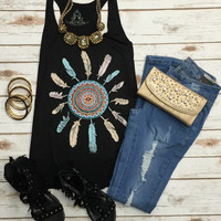 Dream Weaver Tank: Black