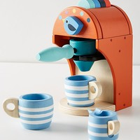 Wooden Espresso Machine Toy Set