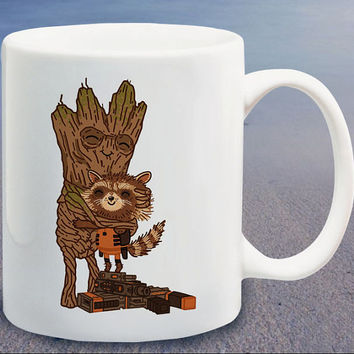 Groot Guardians of Galaxy logo parody logo custom mug,coffee mug,tea mug,cup mug
