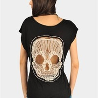 Skull Back Top - Black