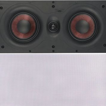 Cabinets LED Dual 5.2.5 Inches 100V In-Wall Speaker with Pivoting Tweeter (5.25 Inch in-wall)