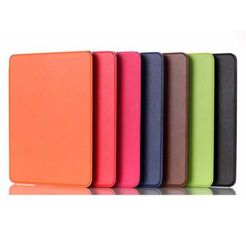 For Amazon Kindle Voyage 6.0 inch Tablet Case Magnetic Smart Close Open Light Leather Slim Thin Luxury Protective e-book Cover