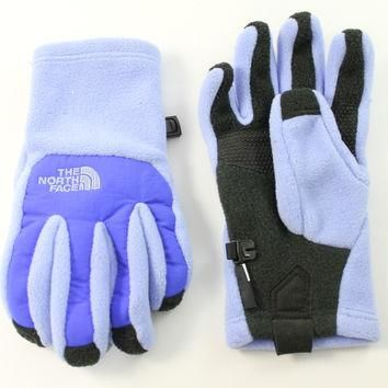 The North Face Girl's Denali Etip Dynasty Blue Gloves