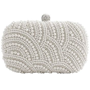 Fashion Clutch Bag Beaded Party Bridal Handbag Wedding Evening Purse