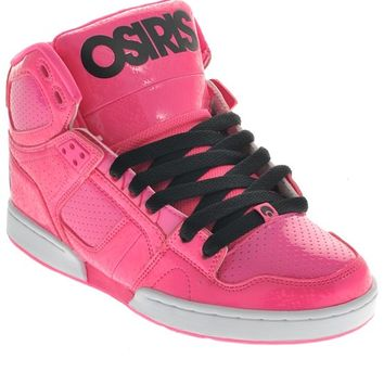 Osiris Pink Pink Black Nyc83 Slim Womens Hi Top Shoe | Osiris | FreestyleXtreme Canada