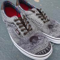 "VANS Custom-Designed ""Native"" Shoes - Men's size US 8 Women's size 9.5"