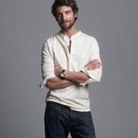 Men's tees, polos & fleece - long-sleeve tees - Homespun long-sleeve henley - J.Crew
