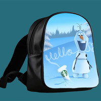 Hello olaf Starbucks for Backpack / Custom Bag / School Bag / Children Bag / Custom School Bag *