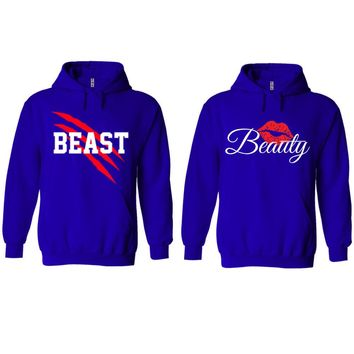 New Beast and Beauty Royal Blue Hoodie