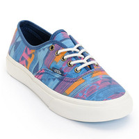Vans Girls Authentic Slim Tribal Print & Marshmallow Blue Shoe at Zumiez : PDP