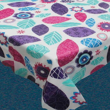 Spring Passion Vinyl Flannel Backed Tablecloth