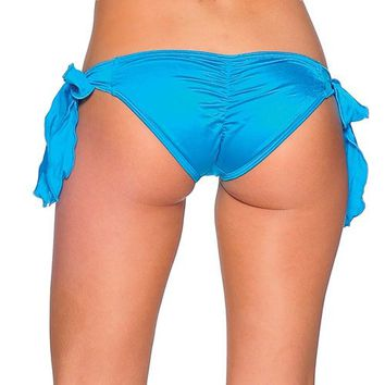 Tie Side Rio Scrunch - Turquoise