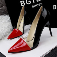 Fashion Sexy Women High-heels Shallow Mouth Pointed Hollow Transparent Mixed Colors  Shoes