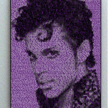 Incredible Prince Purple Song List Mosaic Print Limited Edition