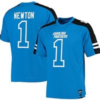 Cam Newton Carolina Panthers NFL Mens Hashmark Jersey Blue Big Sizes
