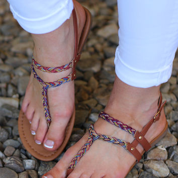 The Jellie Multi Fabric Sandal {Tan}