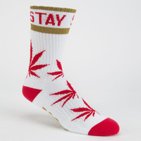 Dgk Stay Smokin Mens Crew Socks Red Combo One Size For Men 25471234901