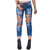 hole ripped Women's  jeans