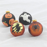 24 Halloween Ornaments - Four Different Designs
