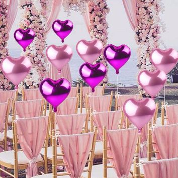 10Pcs Romantic Inflatable Foil  Balloons 18inch for Wedding Decoration