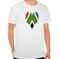 South African peace flag T-shirt