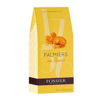 Fossier Palmiers Puff Pastry with Butter, 3.5 oz (100 g)