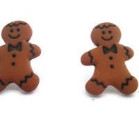 Women's Earrings Ladies Earrings Children Christmas Silly Kids Earrings Gingerbread Man Earrings Geekery Plastic Earrings Jewelry Earrings
