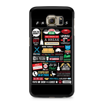 Friends TV Show Infographic Poster Samsung Galaxy S6 case